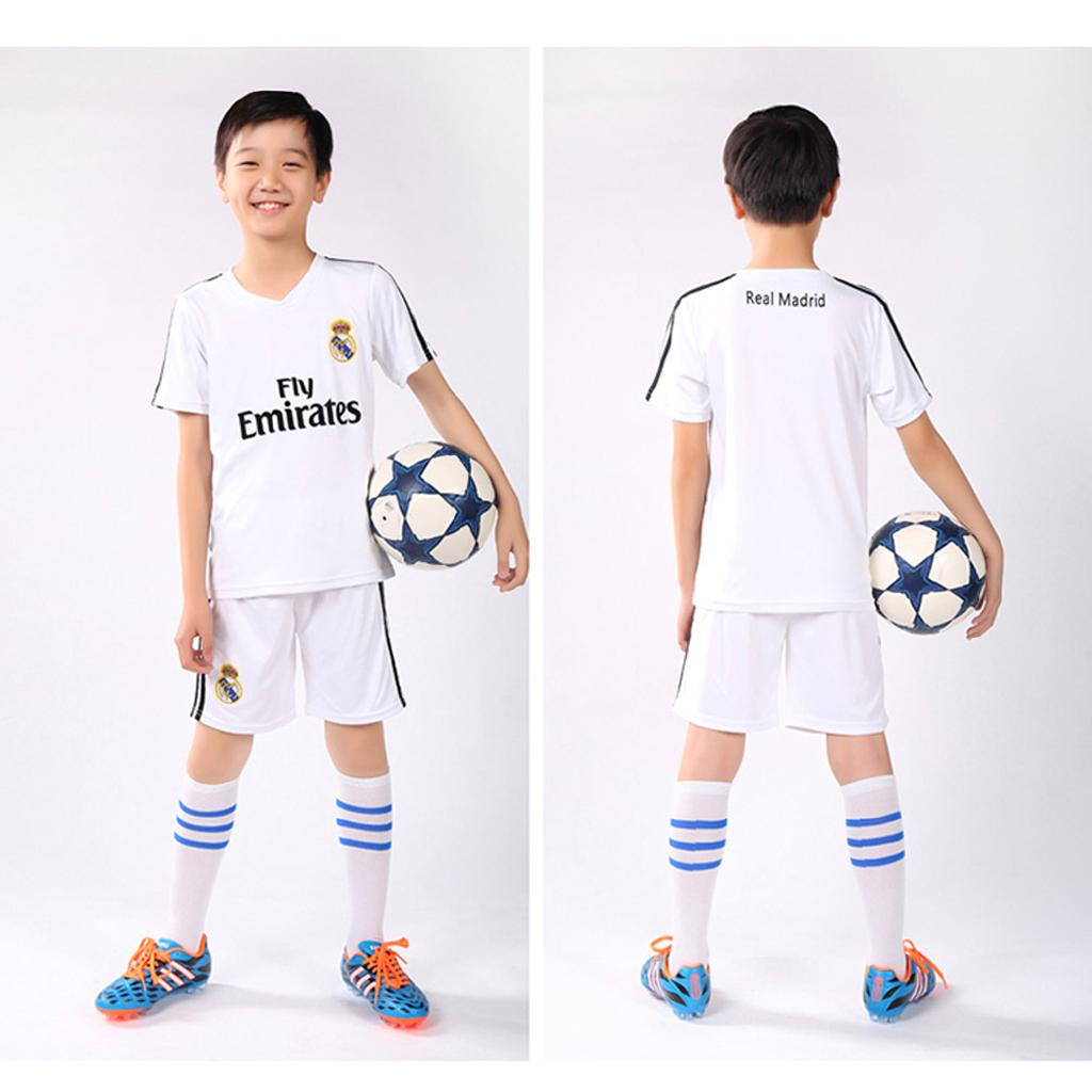 lowest price d58f4 7911a Big Boy Real Madrid White Home Soccer Jerseys Sport Football ...