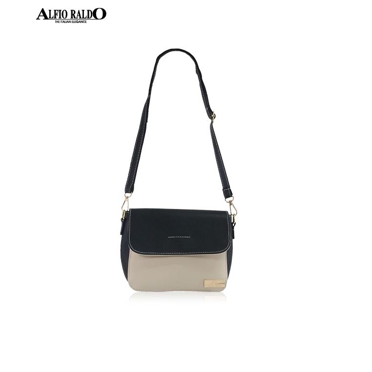 AR by Alfio Raldo Ladies Sweet Cute Black Beige Sling Crossbody Bag