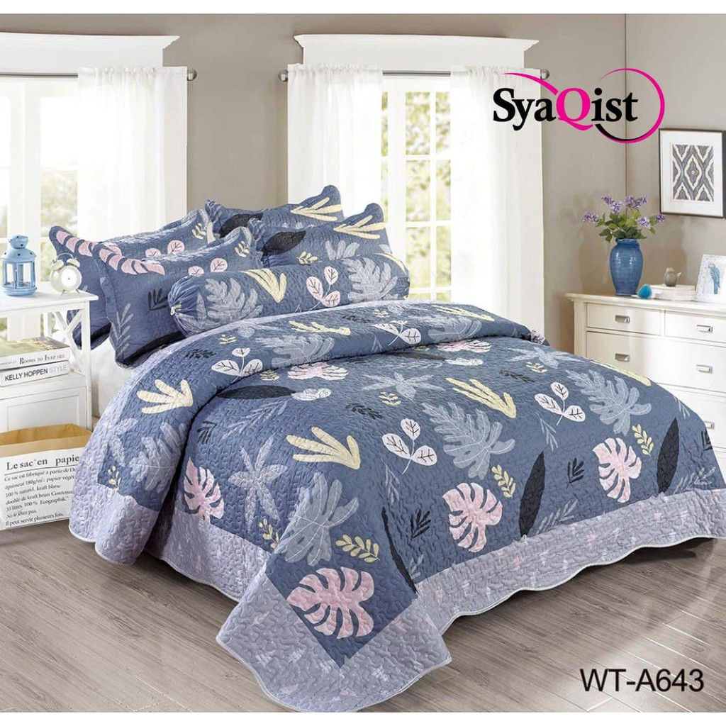 [SYAQIST] SUPER KING PATCHWORK PRINTED 6in1 HQ . 250cm x 270cm . 100% Cotton