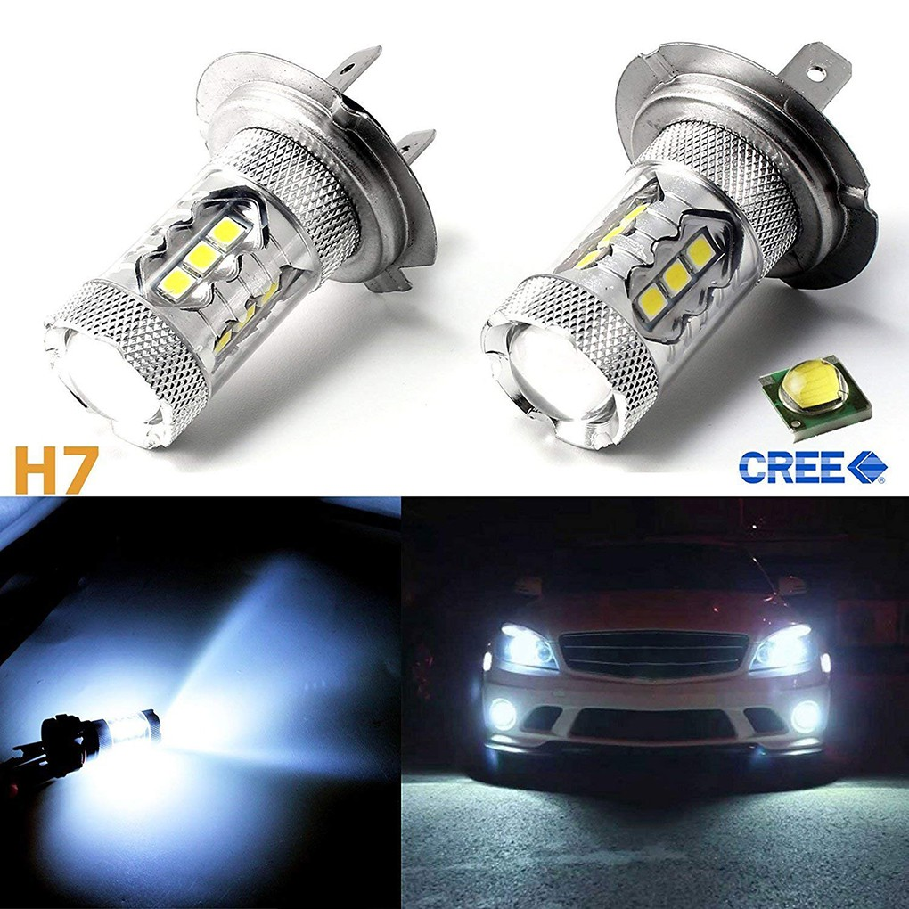 LED 80W H11 White 6000K Two Bulbs Head Light Low Beam Replace Show Use Lamp