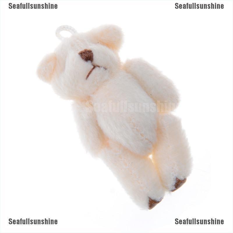 3Pcs Kawaii 6cm Bears Plush Soft Toys Dolls For Children Gifts Wedding Bouquet