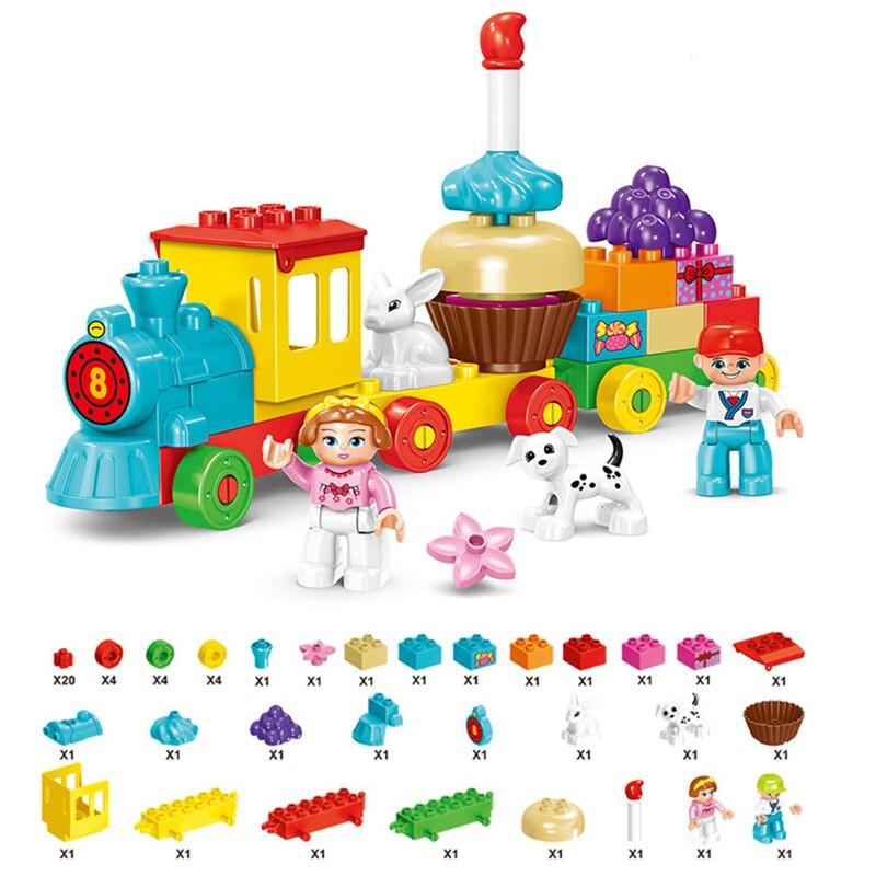 FUN EDUCATIONAL CAKE TRAIN / DESSERT MOUSE BUILDING BLOCK TOYS FOR KIDS