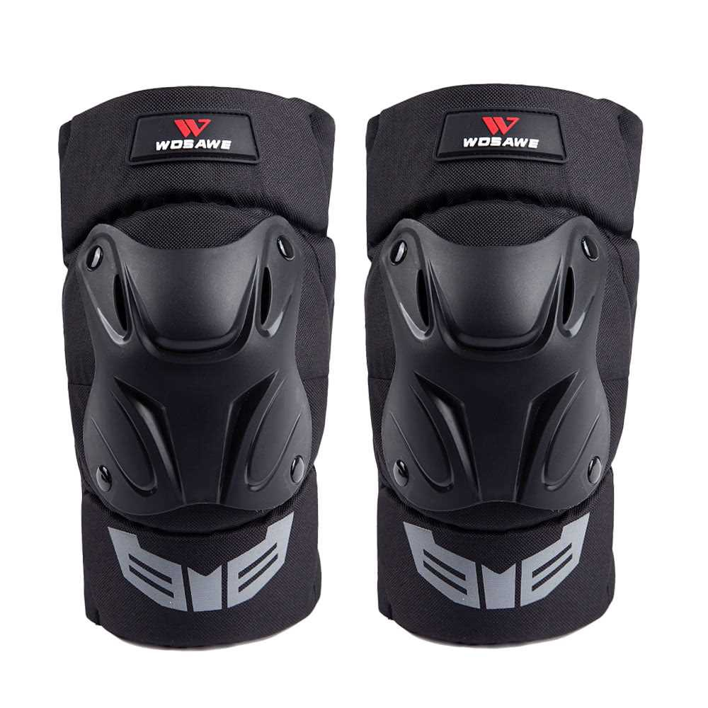 WOSAWE 1 Pair Cycling Knee Brace Bicycle MTB Bike Motorcycle Riding Knee Support Protective Pads Guards Outdoor Sports