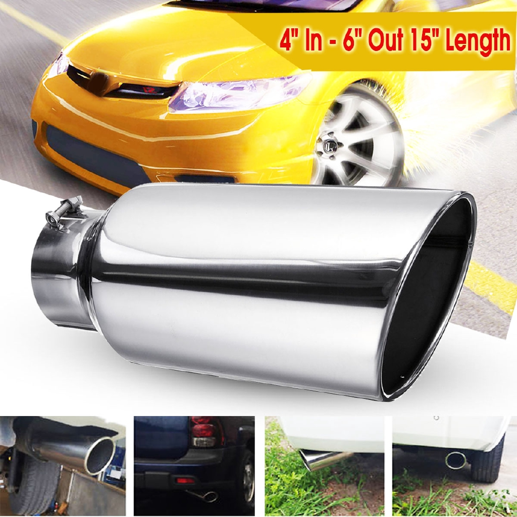 Black 2pcs Car Simulation Exhaust Tip Tail Pipes Rear Bumper Fender Decoration