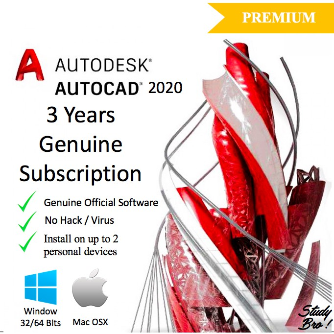 [Genuine]Autodesk AutoCAD 2020/ 2019 3 Years License [Window/Mac OS] EDU  LICENSE