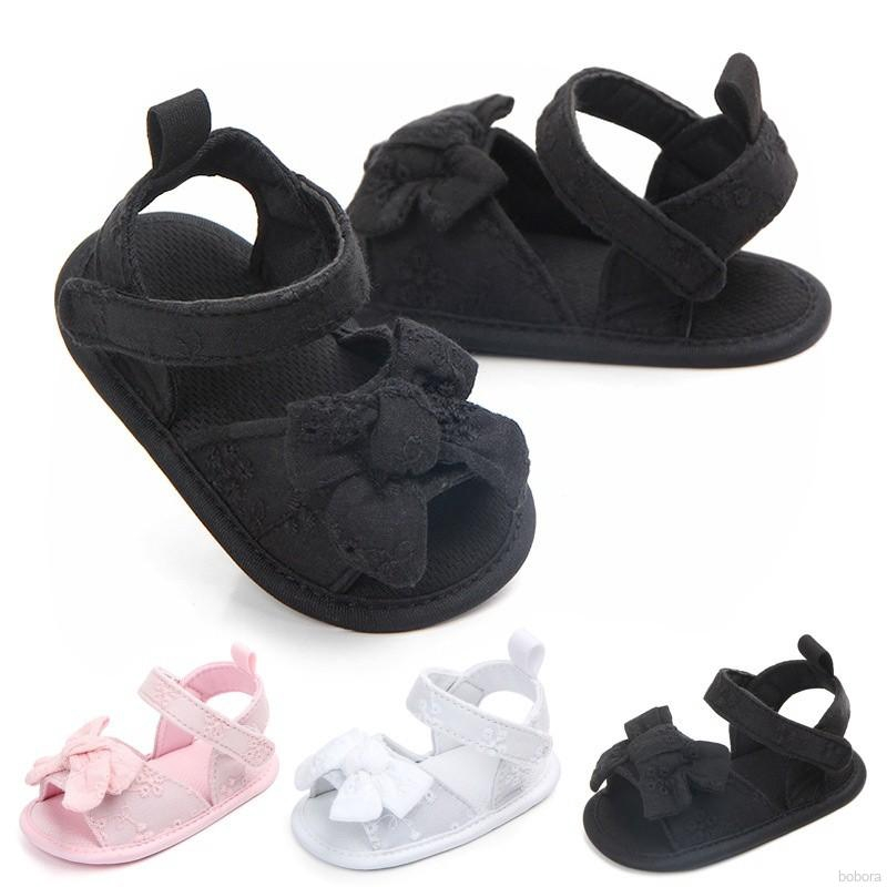 EG/_ INFANT BABY GIRLS BOWKNOT SOFT SOLE ANTI-SLIP PREWALKER TODDLER SHOES NICE