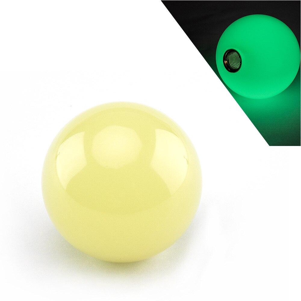 """Universal 2/"""" 4Oz 6Speed Manual White Round Ball Shift Knob M8 M10 M12 Black"""