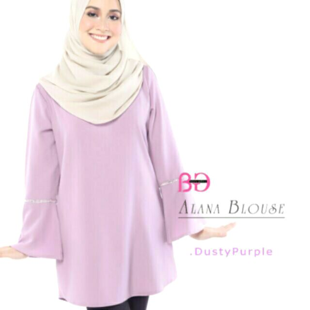 33d559caaa67f Blouse Alana - Dusty Purple