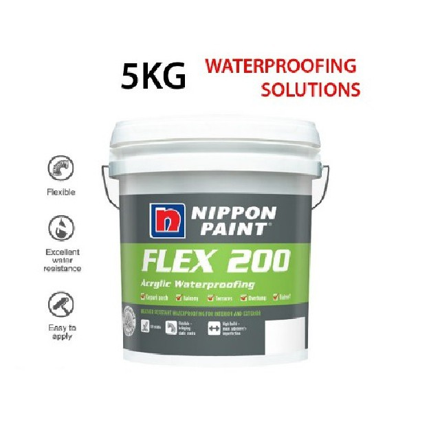 5KG NIPPON Paint FLEX 200 Arcylic Waterproofing