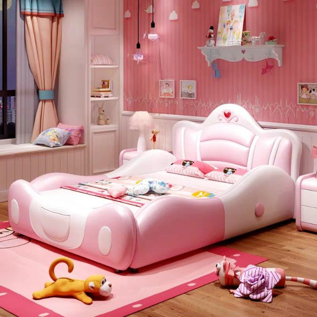 Children S Bed Girl Bed Princess Bed Girl Dream Bed With Guardrail Multifunctional Cartoon Bed Kids Bed Single Bed Shopee Malaysia