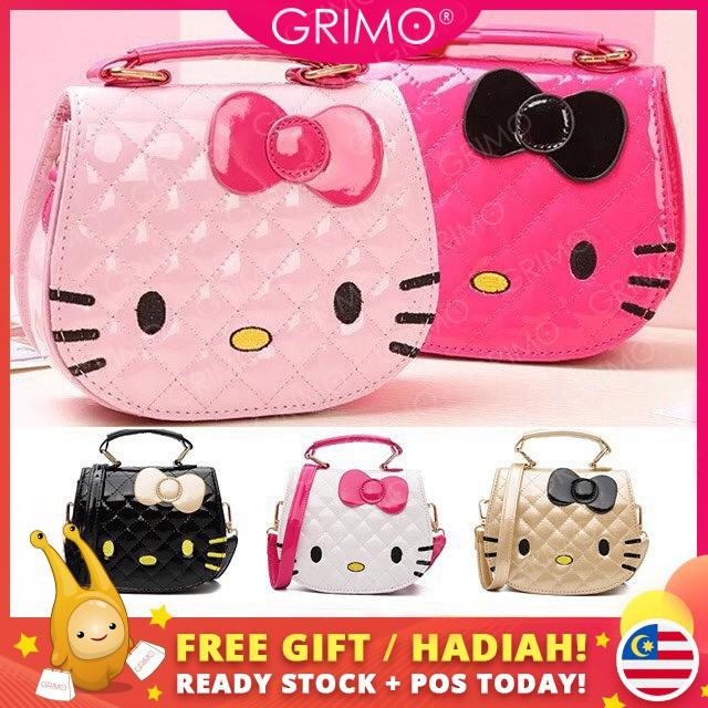 b1bdc1f66 🇲🇾READY STOCK🇲🇾Waterproof Hello Kitty Handbag For Kids Girls Sling Bag  | Shopee Malaysia