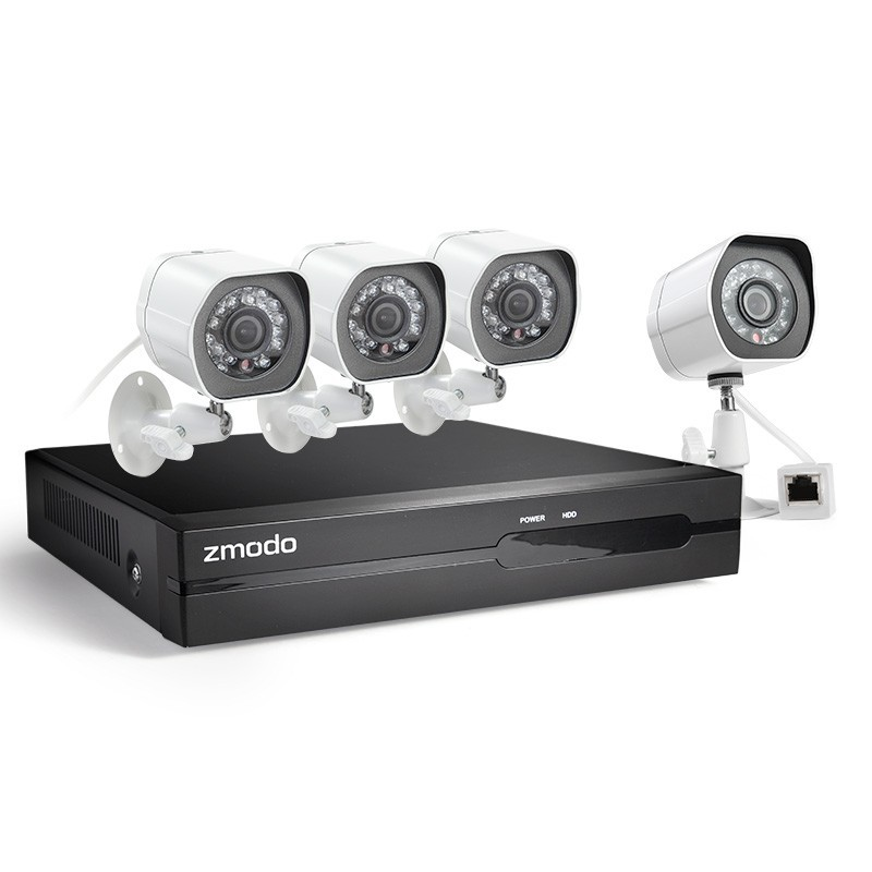 Zmodo SPoE CCTV Security System 4 Channel NVR 4 x 1080p FULL HD IP Cameras