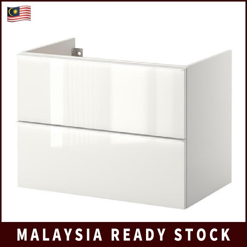 80X47X58 CM IKEA GODMORGON WASH-STAND WITH 2 DRAWERS HIGH-GLOSS WHITE