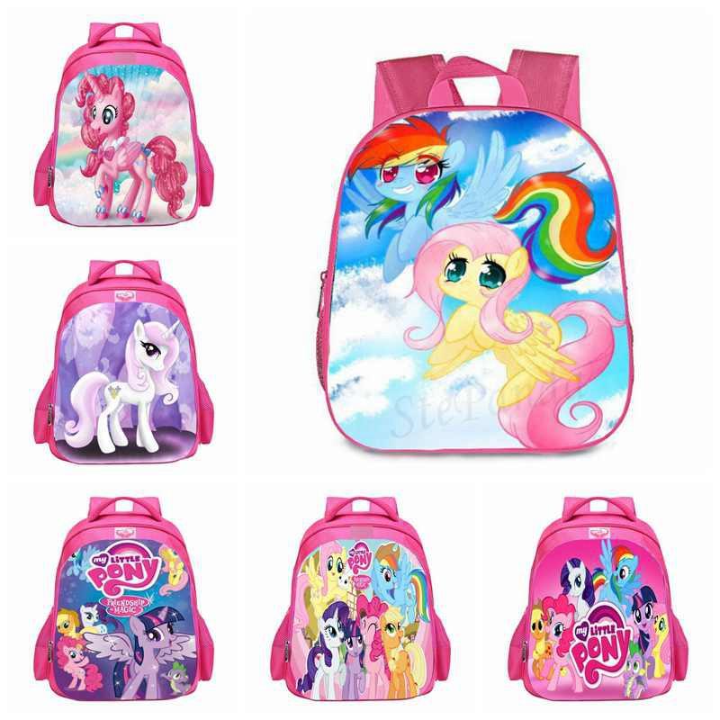 My Little Pony Backpack Cartoon nursery School bag Girls Toy Doll Shoulders Bag