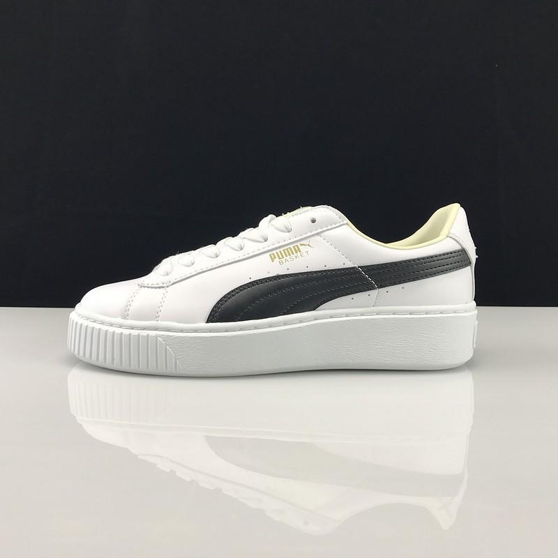 new york best choice exclusive range Puma Basket Suede rihanna platform shoes black and whit
