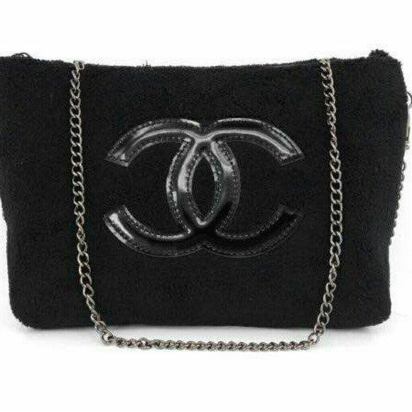 84165db1008a Authentic Chanel VIP GIFT Crossbody Clutch Shoulder Velvet bag | Shopee  Malaysia