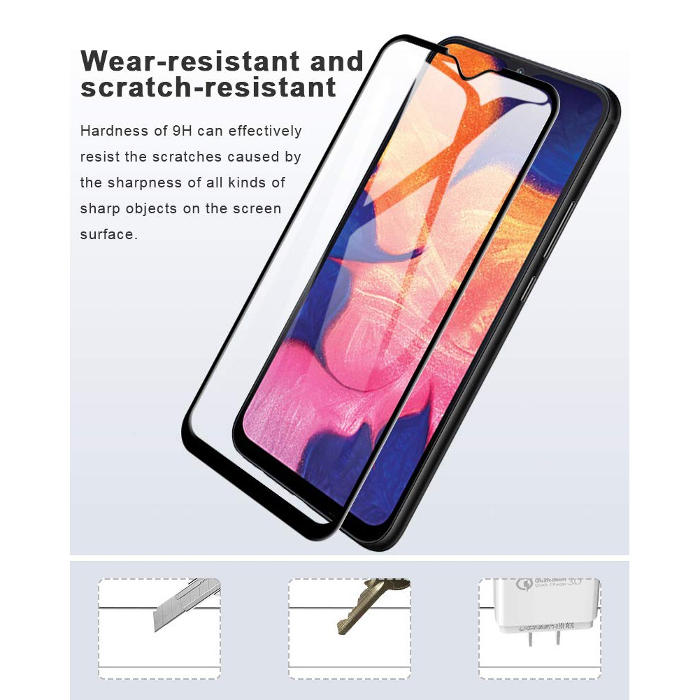 2PCS Tempered Glass Samsung A10 Full Coverage Screen Protector SamsungA10 A  10
