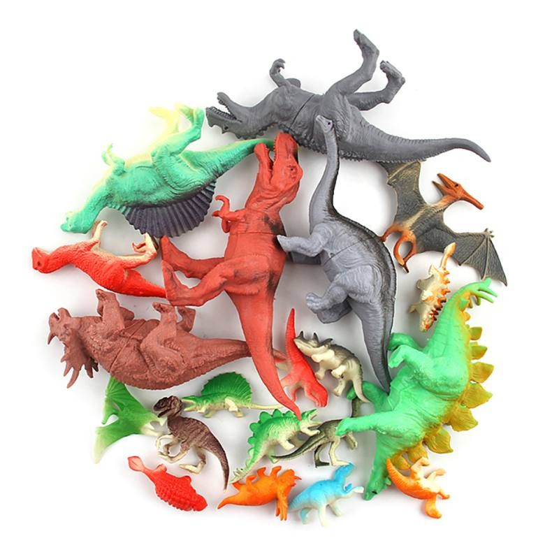20pcs Dinosaur Toys Kids Educational Dinosaur Set Realistic Toy