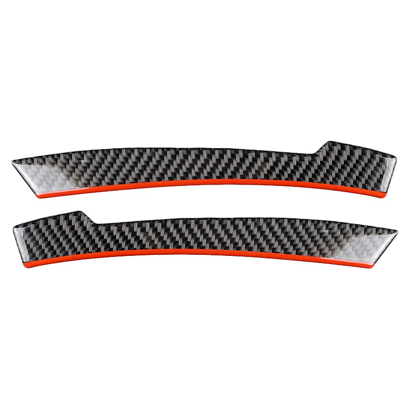 Carbon Fiber Rearview Mirror Anti-Rub Strips Anti-Collision Black+Red