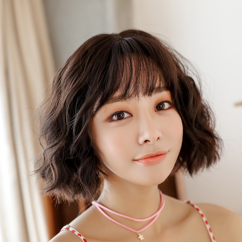 Wig Female Short Hair Curly Corn Hot Bobo Korea W