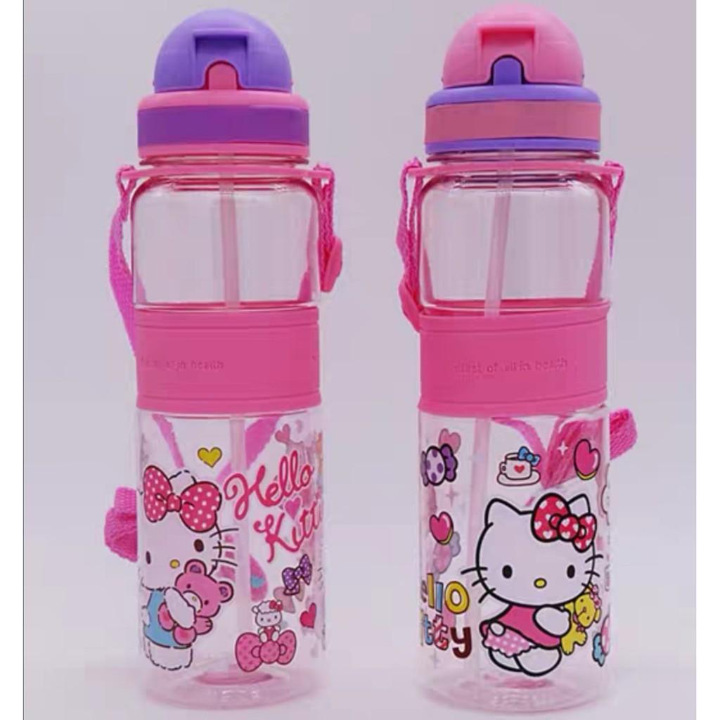 [ READY STOCK ]  500ml Children Cartoon Straw Cup Girl Boy Kettle Bottle Water Dispenser Jualan Murah Kitchen Cawan Baby