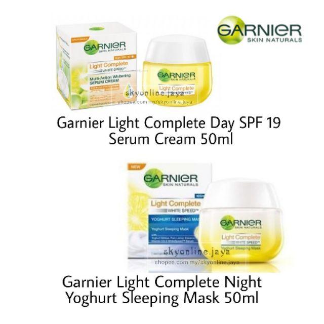 GARNIER LIGHT COMPLETE MULTI ACTION WHITENING SERUM CREAM SPF19 (50ML)   Shopee Malaysia