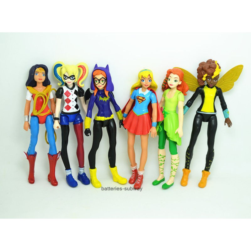 DC Harley Quinn Wonder Woman Batgirl 6 PCS Heros Action Figure Kid Gift Doll Toy