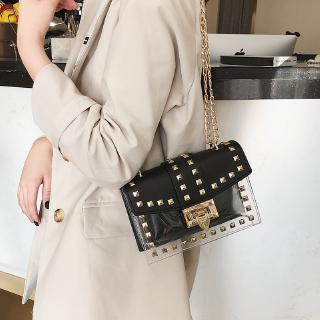 7f5a63110997 Small clear Brand Designer Woman 2019 New Fashion Chains Shoulder ...