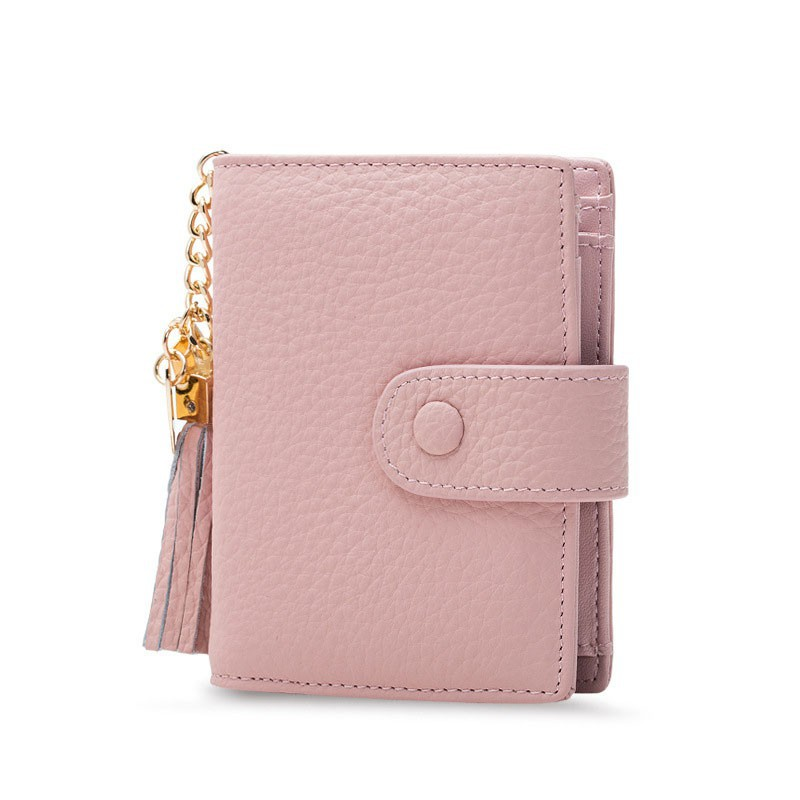 7a522f8f2dd Fringed Short Women Wallet Real Leather Tassel Coin Purse Card Holder  Clutch Bag