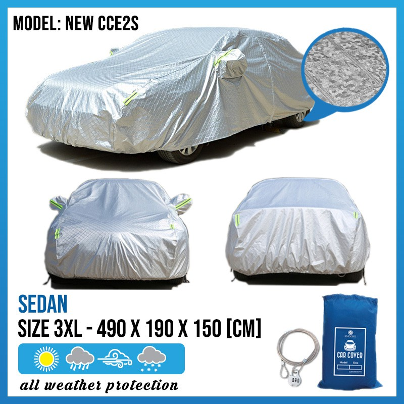 Car Cover Rain Dust Sunlight Resistant Protection For Audi A4/A5 Lexus IS/GS MAzda 6 (Size 3XL) (NEW CCE2S)