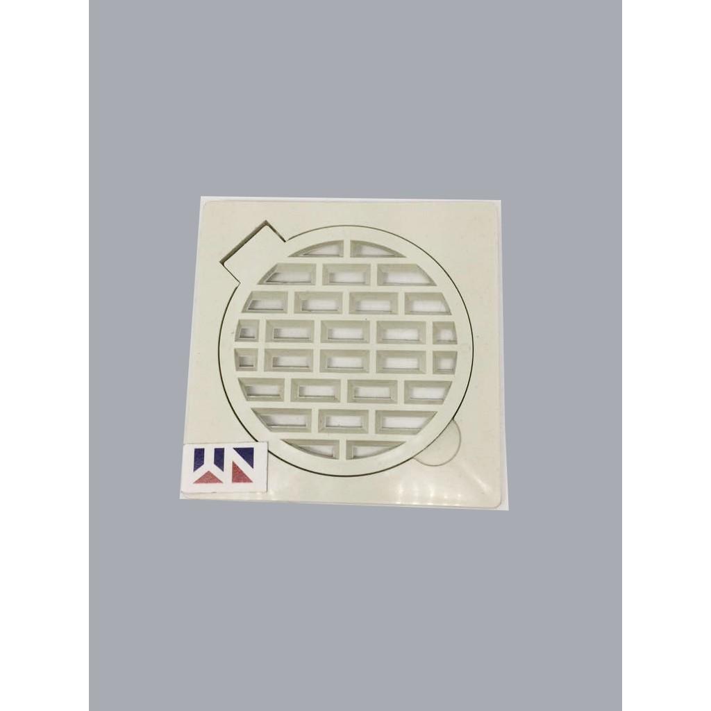 "Cover Floor Drains Plastic Tutup Lubang Saluran 4""X4"""