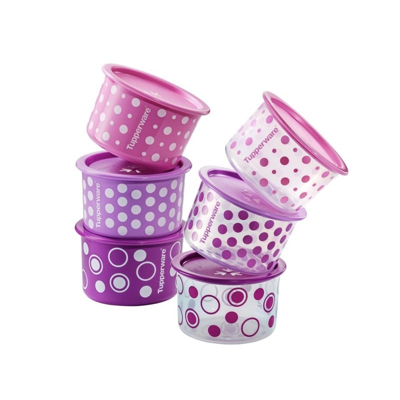 Polka Pearls One Touch Topper (6) 600ml READYSTOCK