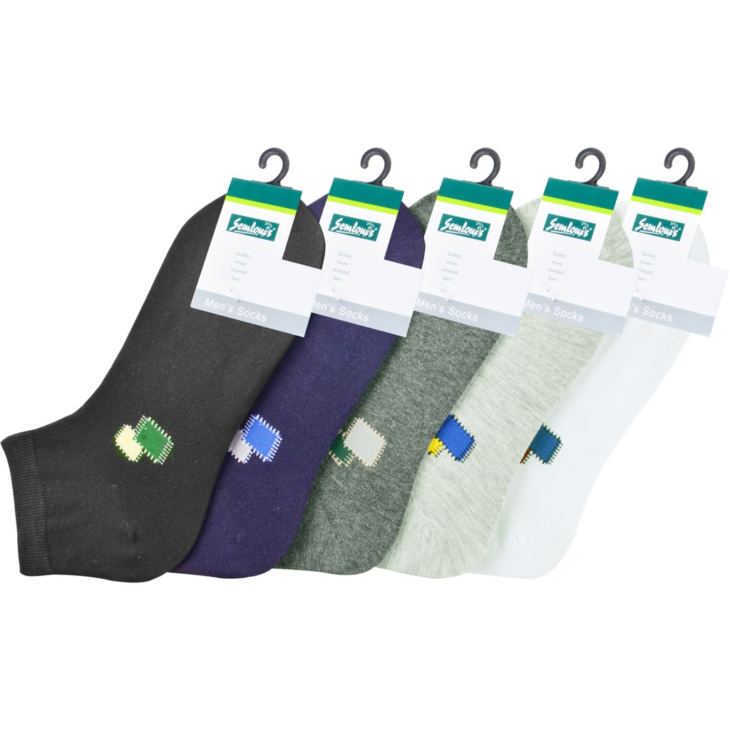 Semlouis Men Quarter Crew Socks - Design 11
