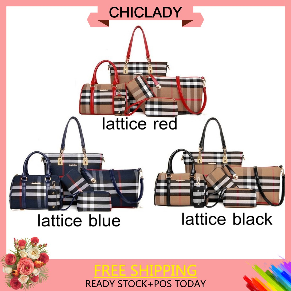 【More Style】6pcs Nylon Leisure Handbag Shoulder Bag Purse