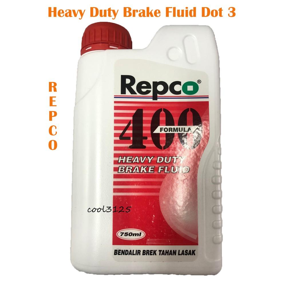 REPCO 400 BRAKE FLUID DOT 3 - 750ML DOT3 BRAKE OIL