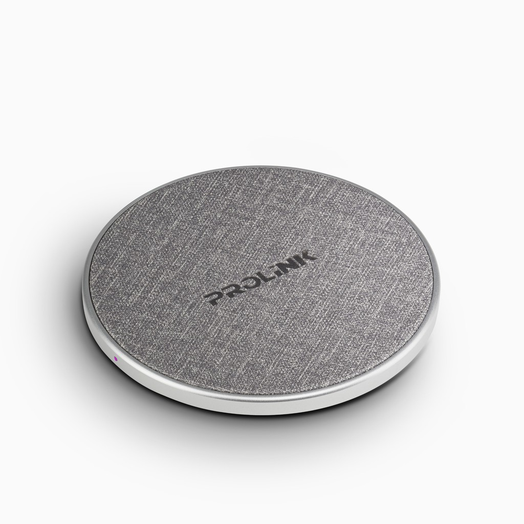 PROLiNK 10W Qi Wireless Charging Pad Slim Fabric PQC1005 For iPhone 8 8+ X XS XMAS 11 Pro Samsung S8 S8+ S9 S9+ S10 S10+