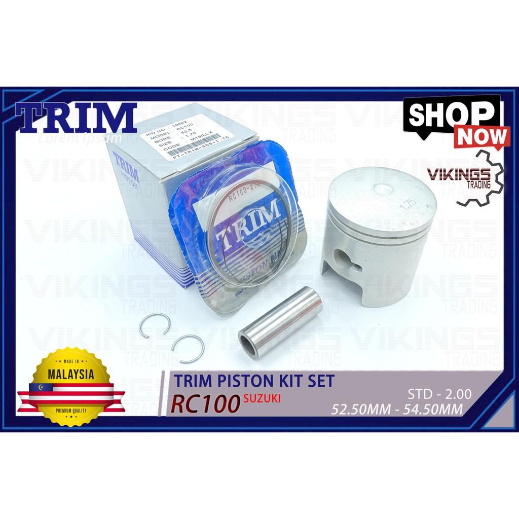 SUZUKI RC100 TRIM MALAYSIA PISTON + RING + PIN + CLIP PISTON KIT SET STD-200