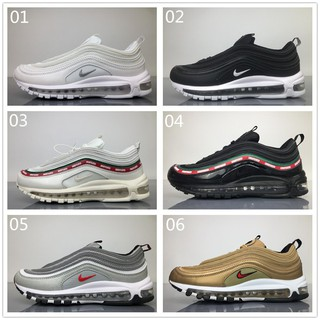 ready stock Nike AIR Max 97 gold white black sliver 884421 001 Sneakers Running
