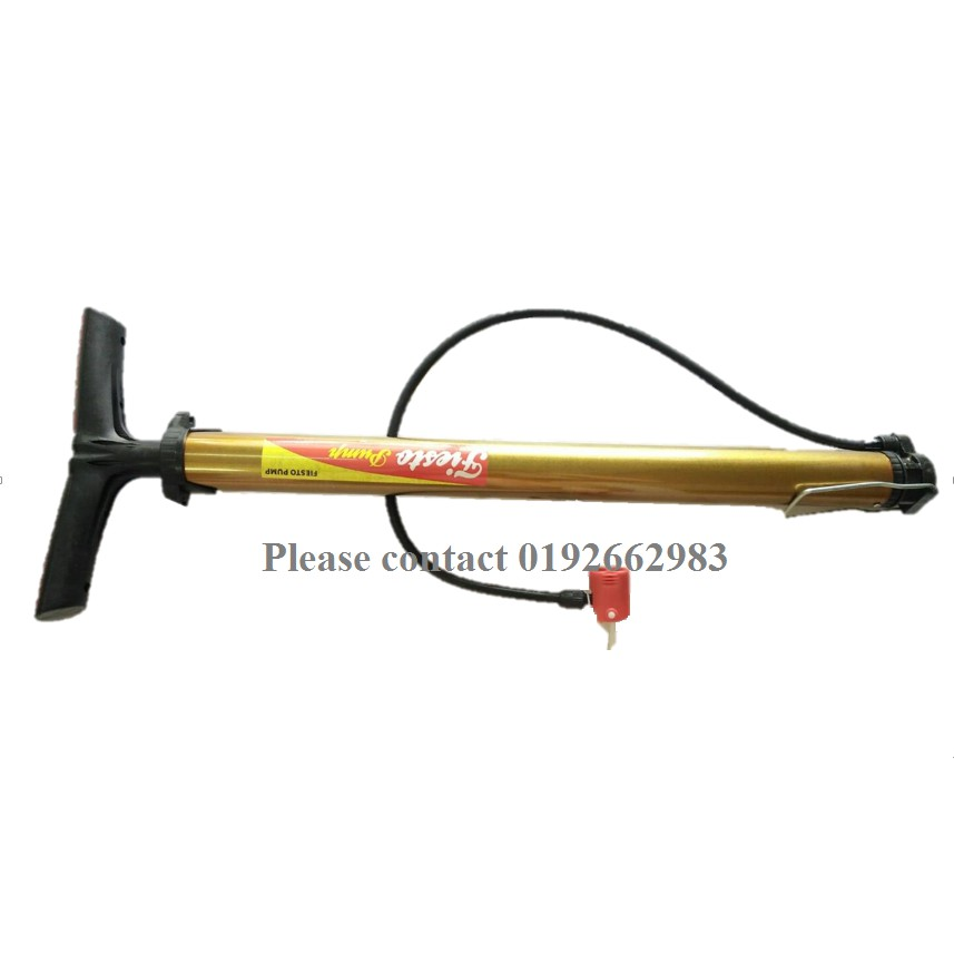 Bicycle Hand Air Pump3 different type of ball needle (Gold)