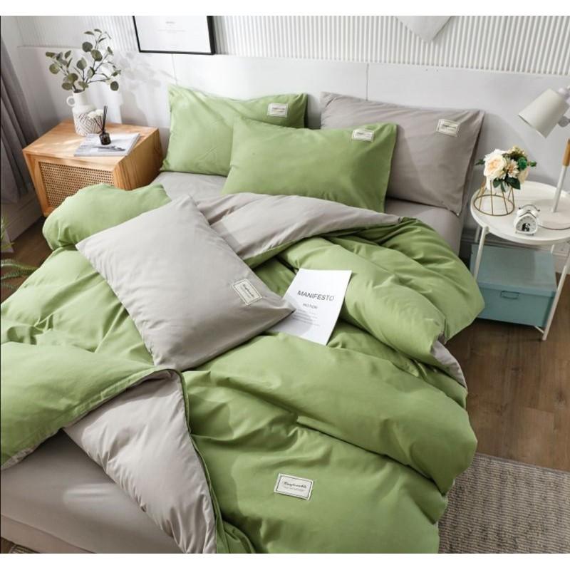 Nordic Minimalist Queen Quiltcover Set Duvet Cover Set Sarung Comforter