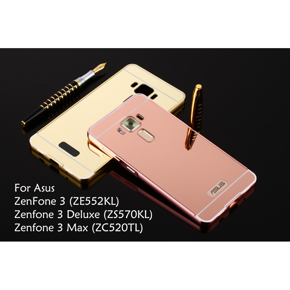 Asus Zenfone 3 Deluxe Max Ze552kl Zs570kl Zc520tl Mirror Hard Cover Case Casing Shopee Malaysia