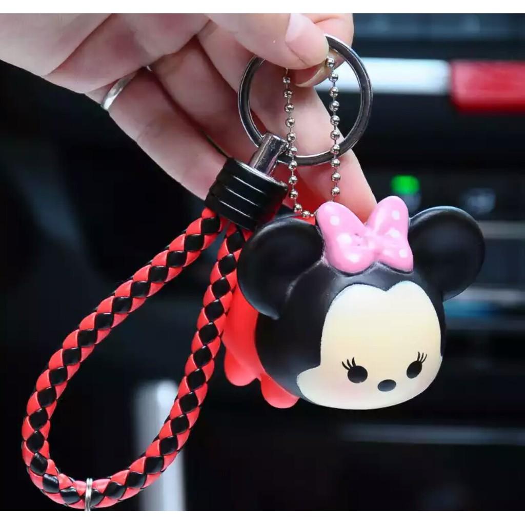 Disney Tsum Tsum Keychain Cute Mickey Donald Duck Daisy Pluto Chip Key Chain