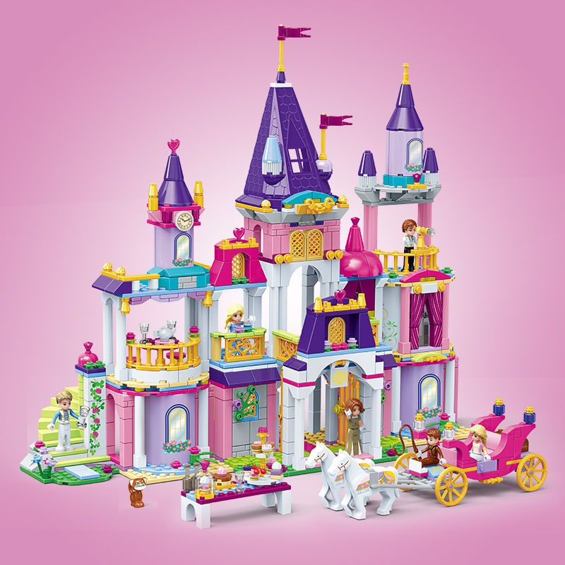 Building Blocks Girls Castle Cake Band Figure Toy Child Model Building