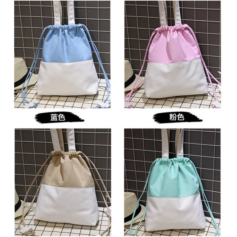 1721d62ba763 Girls Daily for Bags Handbag Use Students Bag Shoulder Drawstring Canvas