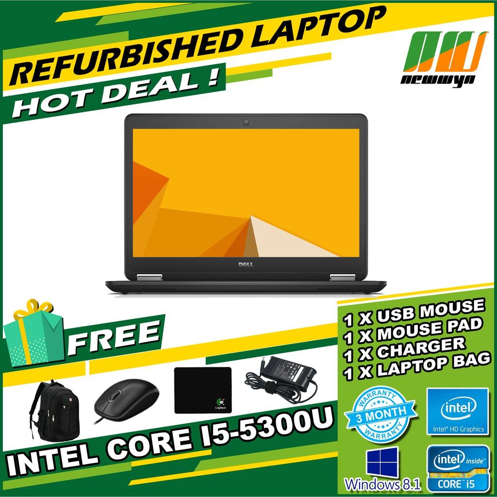 Dell Latitude E7450/Core i5-5300U@2 40GHz/4GB RAM/128GB SSD [Refurbished]