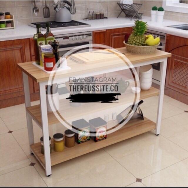 Scandinavian Kitchen Island Rack, Movable Kitchen Cabinets Ikea