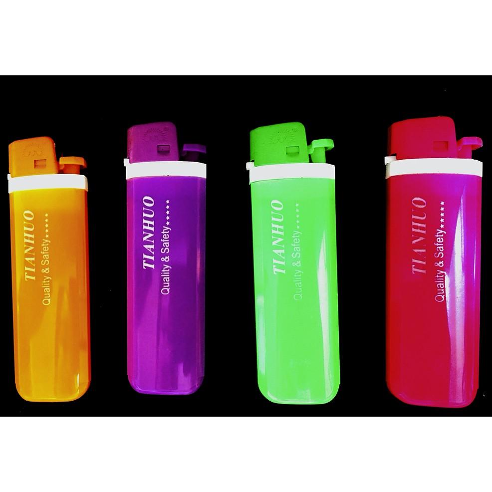 TIAN HUO Lighter Colorful Design Flint Disposable Gas Lighter 1pcs