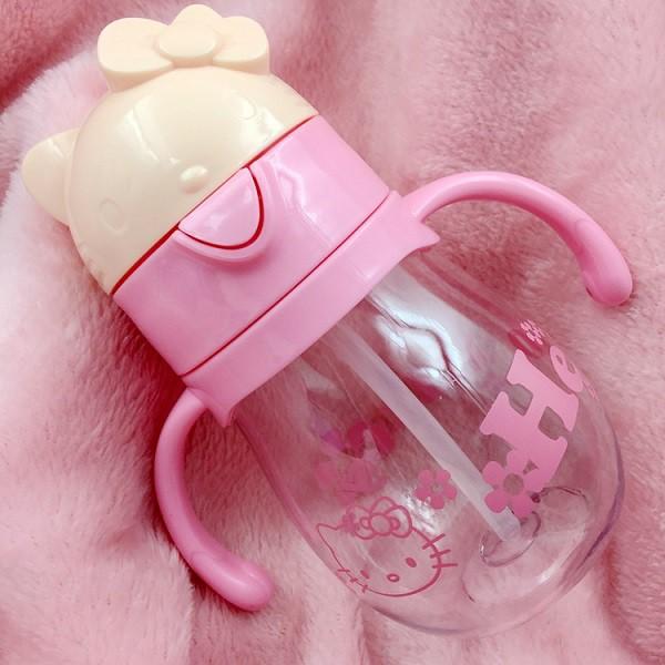 [ READYSTOCK ]  350ML Cute Cartoon Hello kitty Straw Water Bottle Kid Baby Jualan Murah Kitchen Air Minuman Travel Budak