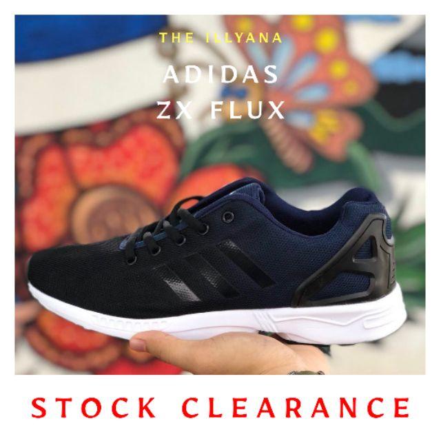 4fc2cd4a3c3b2  LELONG  ADIDAS ZX FLUX BLACK BLUE BLACK