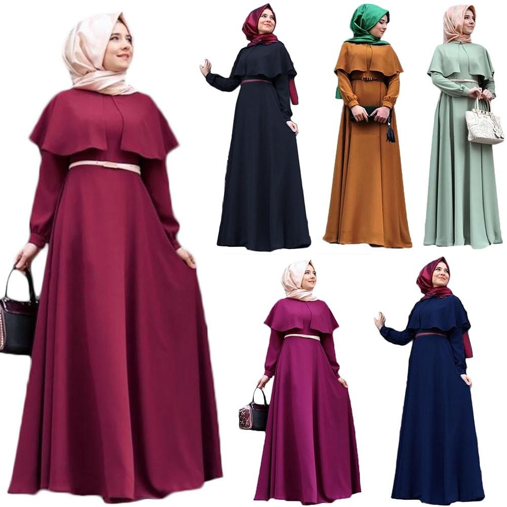 Fg Muslim Dress Long Cape Sleeve Women Size Large Maxi